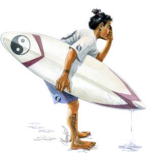 aquarelle-surfeur