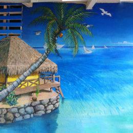 Fresque lagon Polynésien