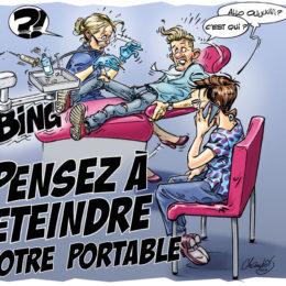 Panneau dentiste portable