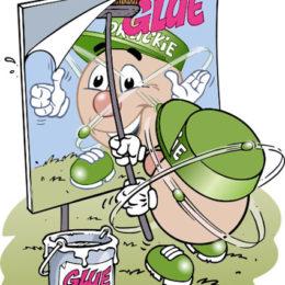 Personnage Druckie, Glue