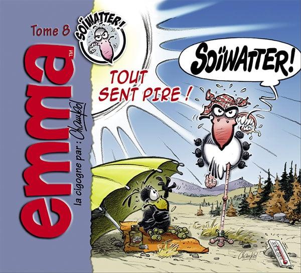 Couverture du tome 8 d'Emma la Cigogne