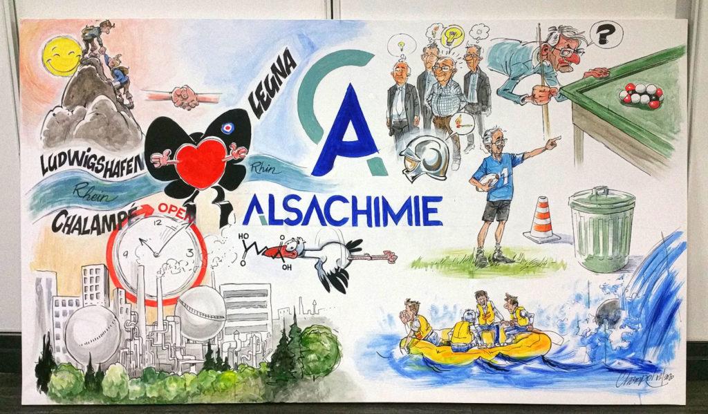 Panneau Alsachimie réalisé en prestation