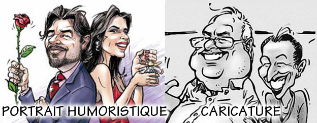 Portraits BD humoristiques ou Caricature