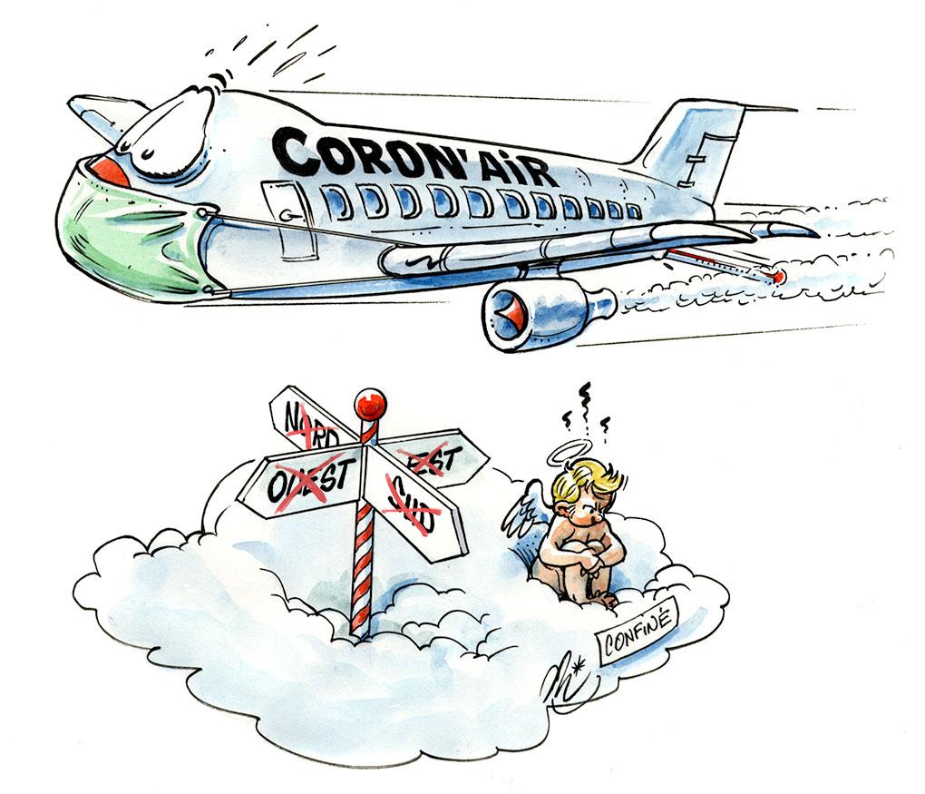 Corona virus, compagnie coron'air