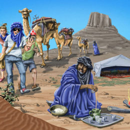 Illustration desert de Mauritanie
