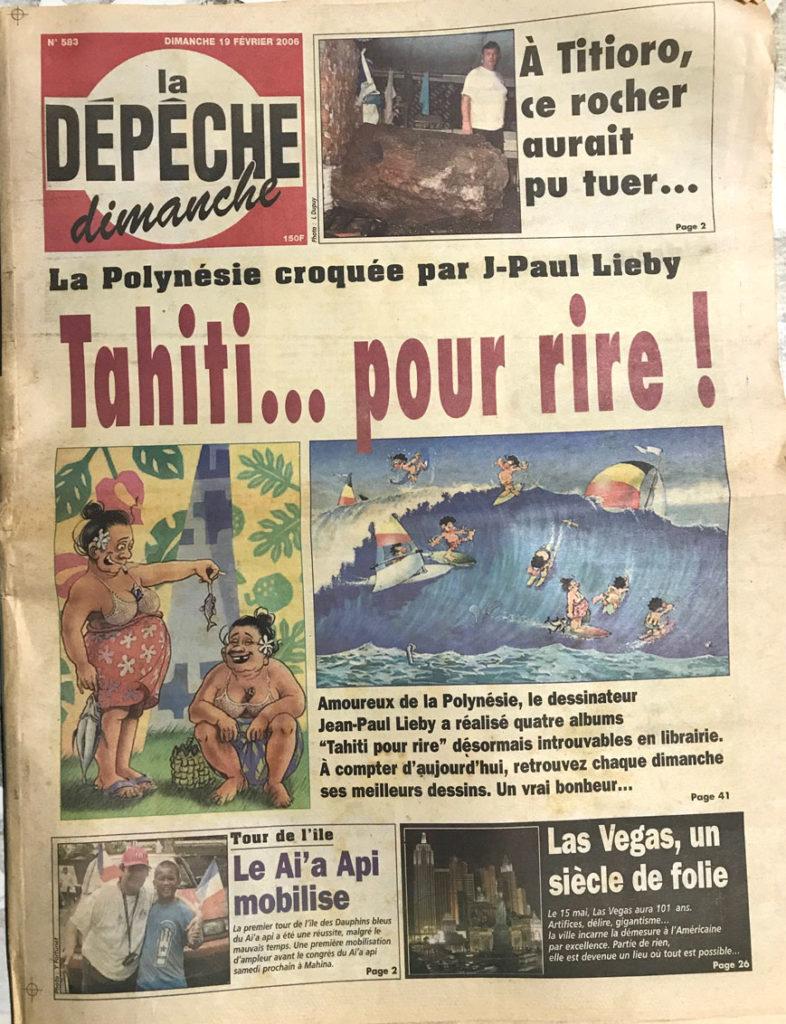 Article, Champol 10 ans en Polynésie, couverture