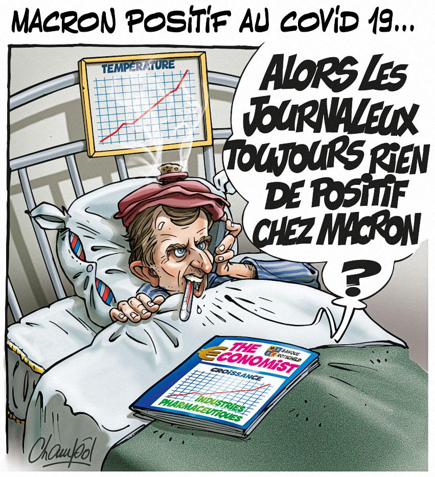 Macron positif au Covid 19