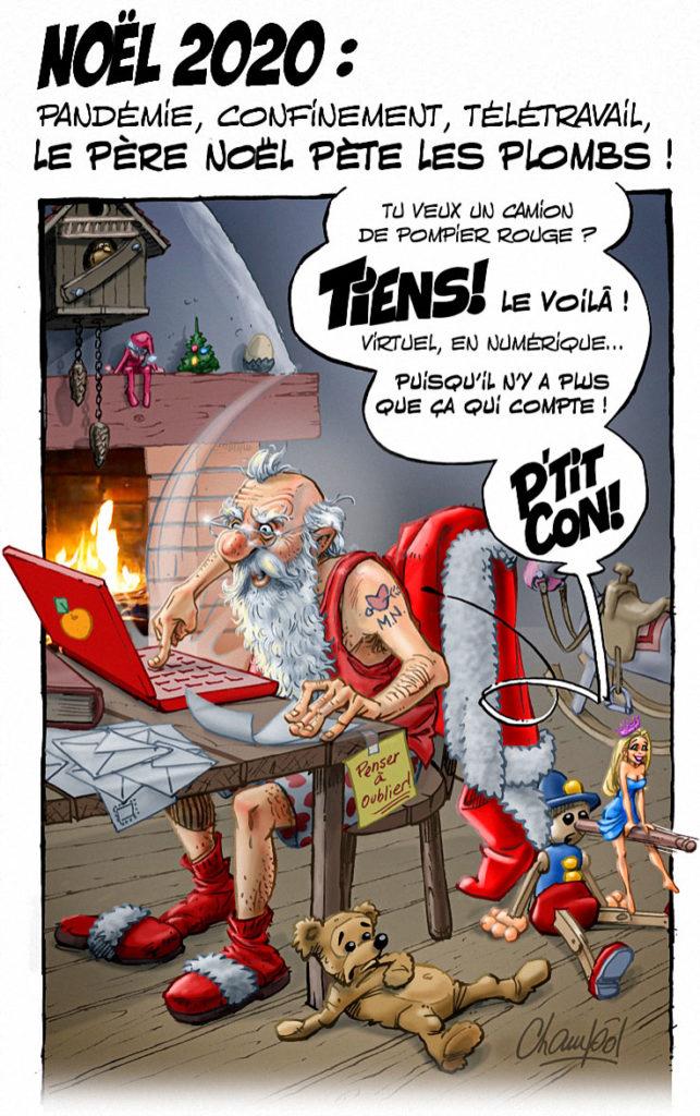 le père Noel pète les plombs
