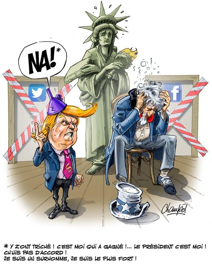 Trump conteste les élections