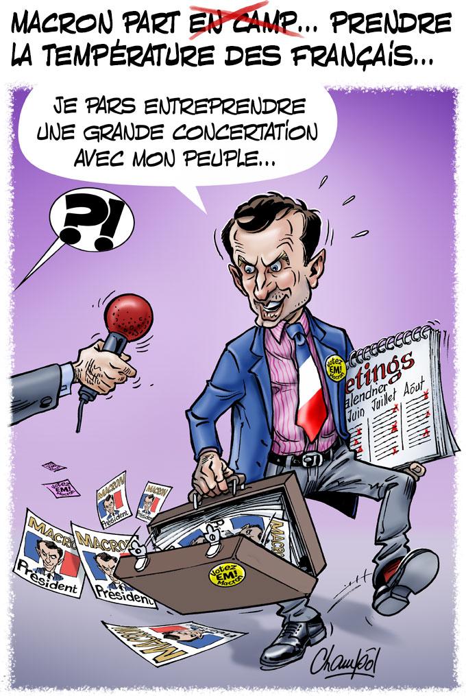 Le tour de France de Macron